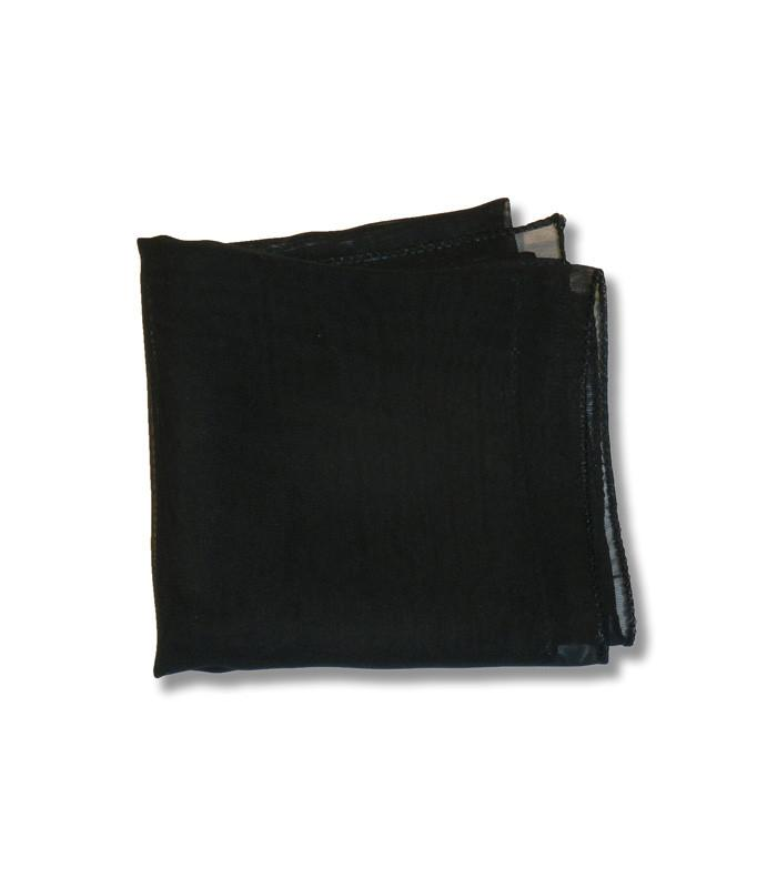 Black Retro Chiffon Square Scarf - The Atomic Boutique