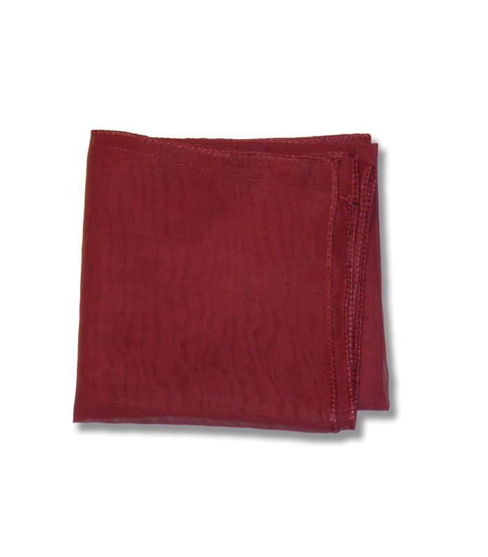 Burgundy Retro Chiffon Scarf - The Atomic Boutique
