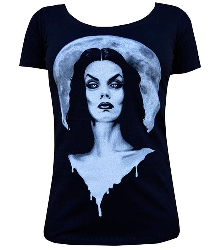 Lowbrow Art Comany Moonlight Vampira T-shirt - The Atomic Boutique