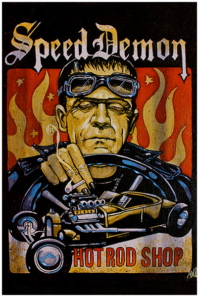 Speed Demon Frankenstein Fine Art Print
