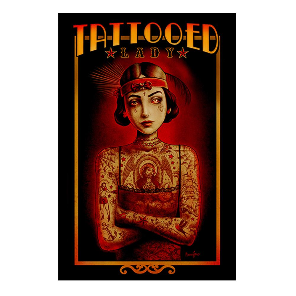 The Tattooed Lady Fine Art Print - The Atomic Boutique