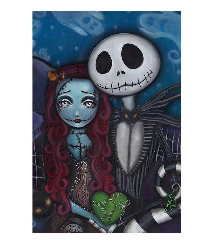 Jack Skellington This Is True Love Art Print - The Atomic Boutique  - 1