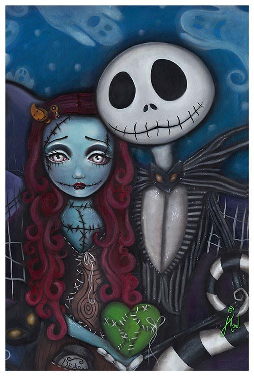 Jack Skellington This Is True Love Art Print - The Atomic Boutique  - 2