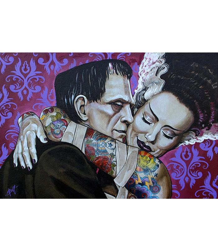 Lowbrow Undying Love Art Print by Artist Mike Bell - The Atomic Boutique