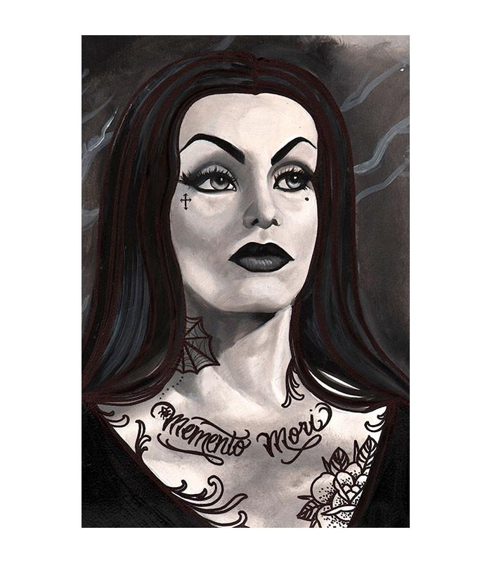 Lowbrow Art Company Vampira Art Print by Artist Thea Fear - The Atomic Boutique