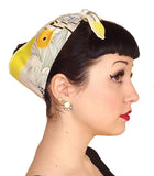 Yellow Daisy Fabric Head Wrap Scarf - The Atomic Boutique  - 1