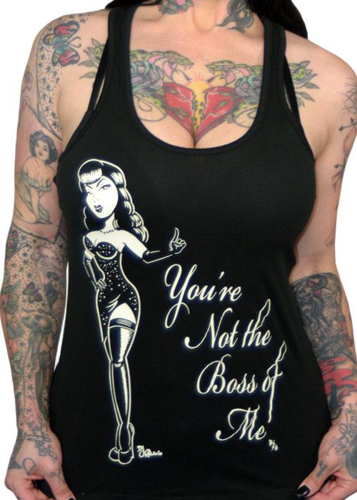 Pinky Star Your Not The Boss Of Me Tank Top - The Atomic Boutique
