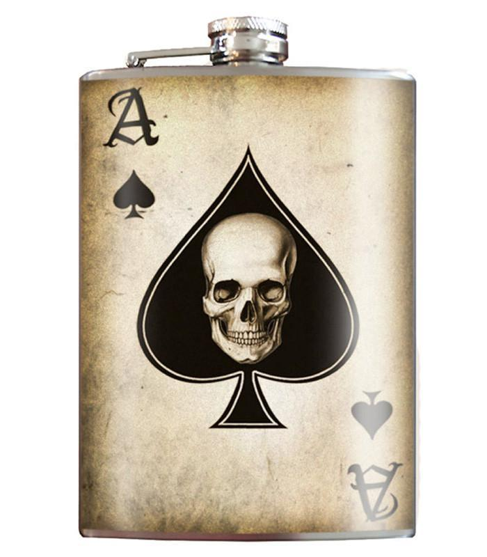 Ace of Spades Stainless Steel Flask - The Atomic Boutique