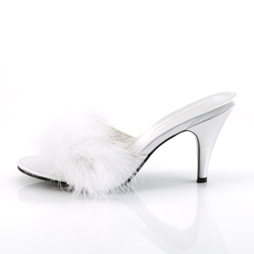 Marabou White AMOUR-03 Slippers - The Atomic Boutique