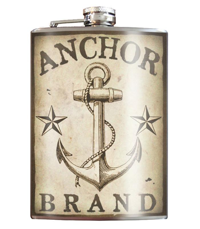 Anchor Brand Flask 8 oz. Stainless Steel - The Atomic Boutique