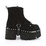 Demonia ASHES-100 Faux Black Suede Platform Boots - The Atomic Boutique