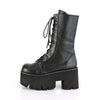 Demonia Black Mid Calf Platform Boots ASHES-10 - The Atomic Boutique