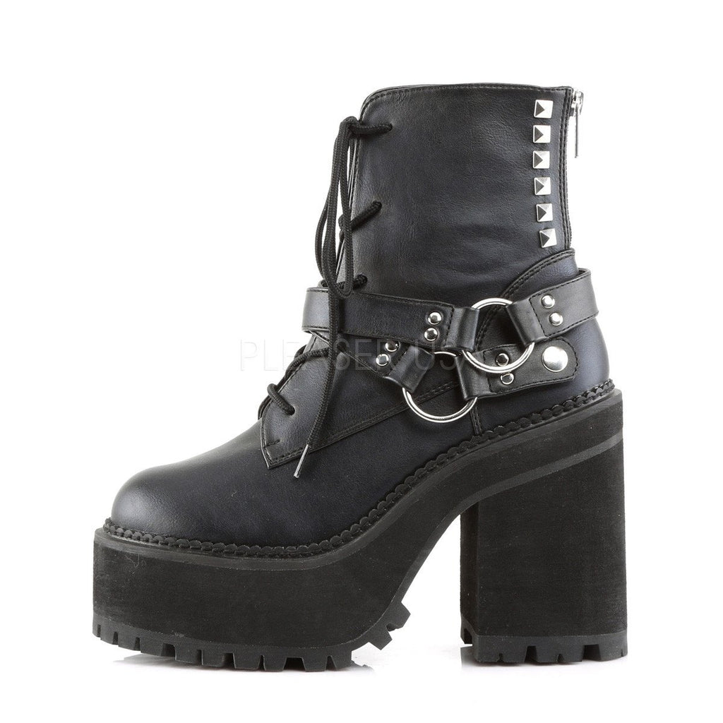 Demonia Assault Strap Vegan Leather Boots - The Atomic Boutique  - 3