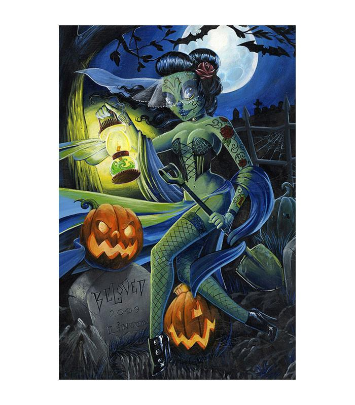Lowbrow Art Company Beloved Zombie Art Print by Artist JR Linton - The Atomic Boutique
