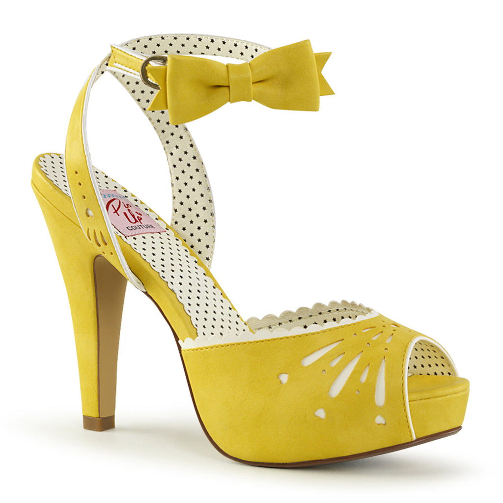 The Bettie Yellow Ankle Strap Pumps BETTIE-01 - The Atomic Boutique
