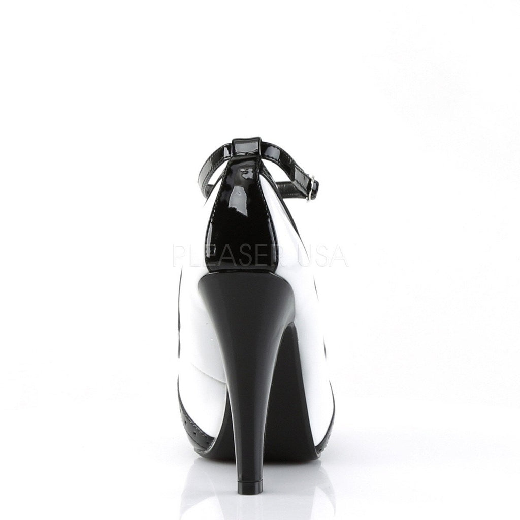 Pinup Couture Black and White Bettie Pumps - The Atomic Boutique  - 4