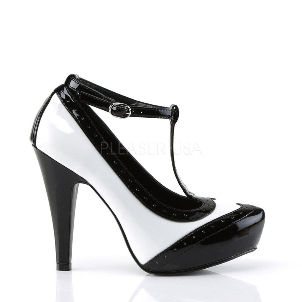 Pinup Couture Black and White Bettie Pumps - The Atomic Boutique  - 5