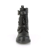Ten Eyelet Unisex BOLT-250 Black Combat Boots - The Atomic Boutique