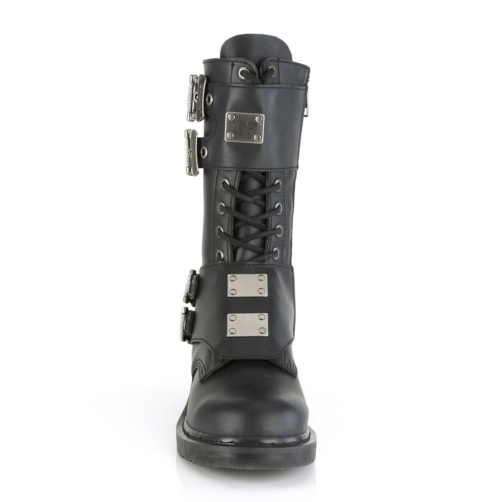 Fourteen Hole Mid Calf BOLT-345 Unisex Combat Boots - The Atomic Boutique