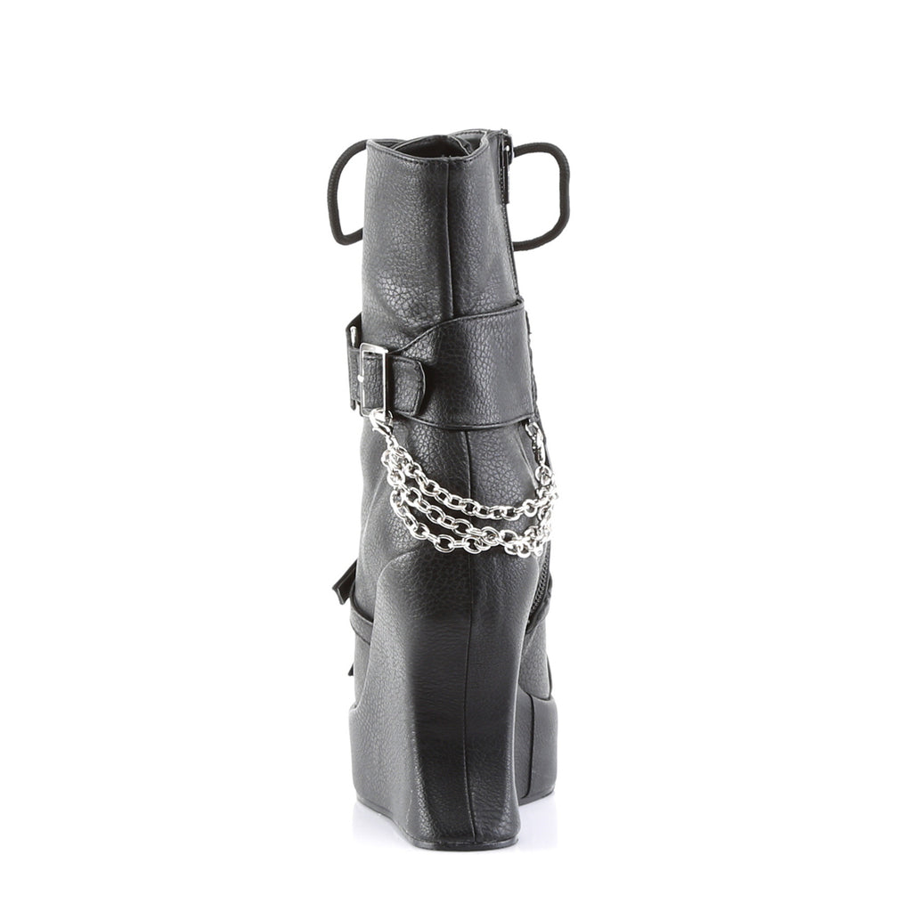 Pyramid Studs and Chains BRAVO-89 Calf Length Boots - The Atomic Boutique