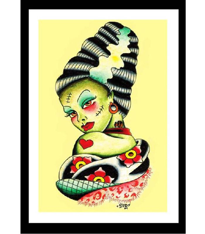 Bride of Frankenstein Fine Art Print - The Atomic Boutique
