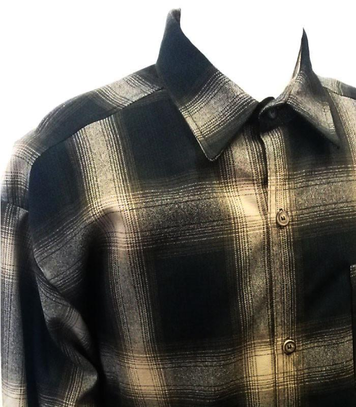 Brown Long Sleeve Flannel Shirt - The Atomic Boutique