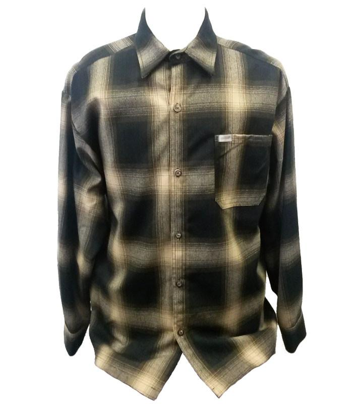 Brown Long Sleeve Flannel Shirt - The Atomic Boutique  - 1