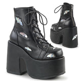 Holographic Bat Vamp Boots CAMEL-201 - The Atomic Boutique