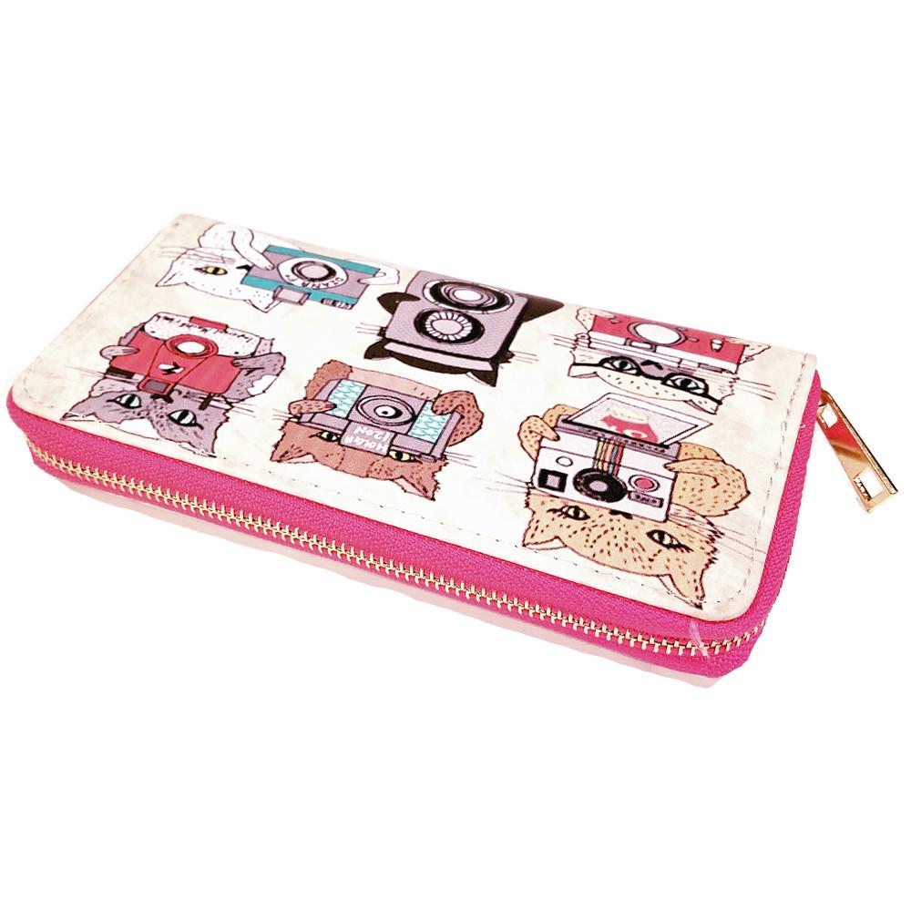 Atomic Apparel Cats With Cameras Wallet