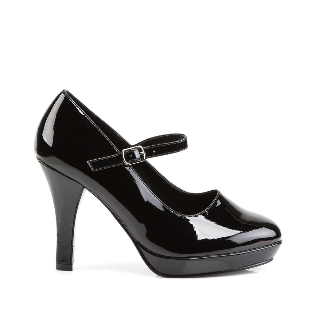 Black Mary Jane CONTESSA-50X Rockabilly Pumps - The Atomic Boutique