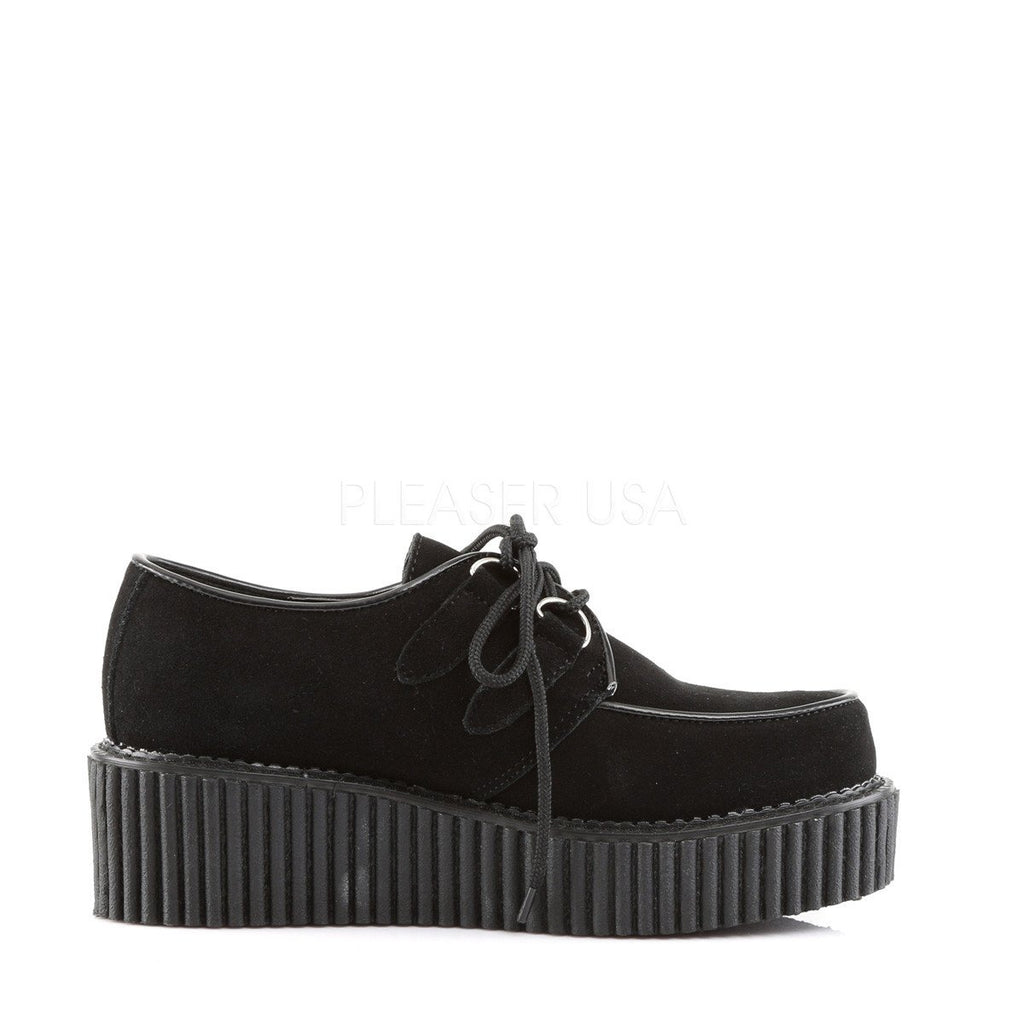 Demonia Black Suede Womens Two Inch Creepers