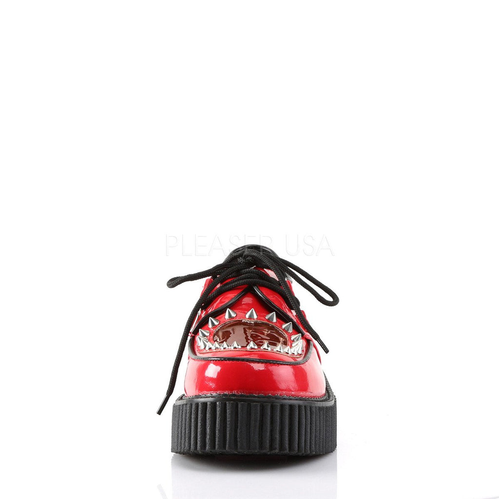 Demonia Red Patent Two Inch Stud Creepers - The Atomic Boutique