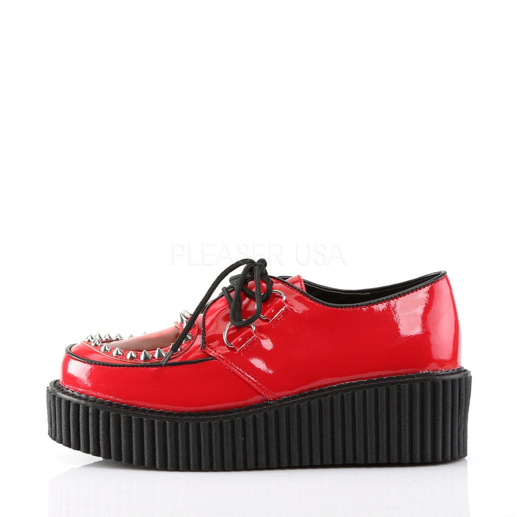 Demonia Red Patent Two Inch Stud Creepers - The Atomic Boutique  - 3