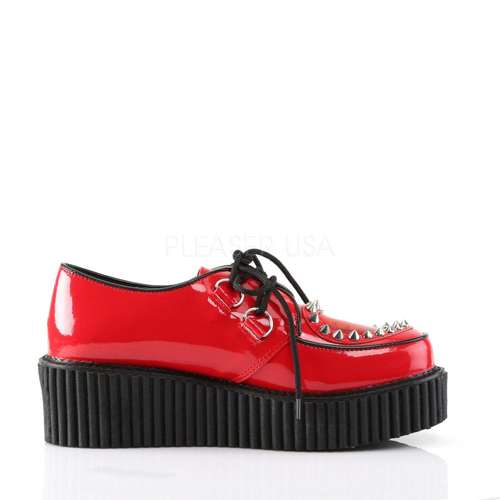 Demonia Red Patent Two Inch Stud Creepers - The Atomic Boutique  - 5