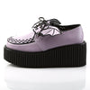 Black and Pink Bat Wing Three Inch Creepers CREEPER-205 - The Atomic Boutique