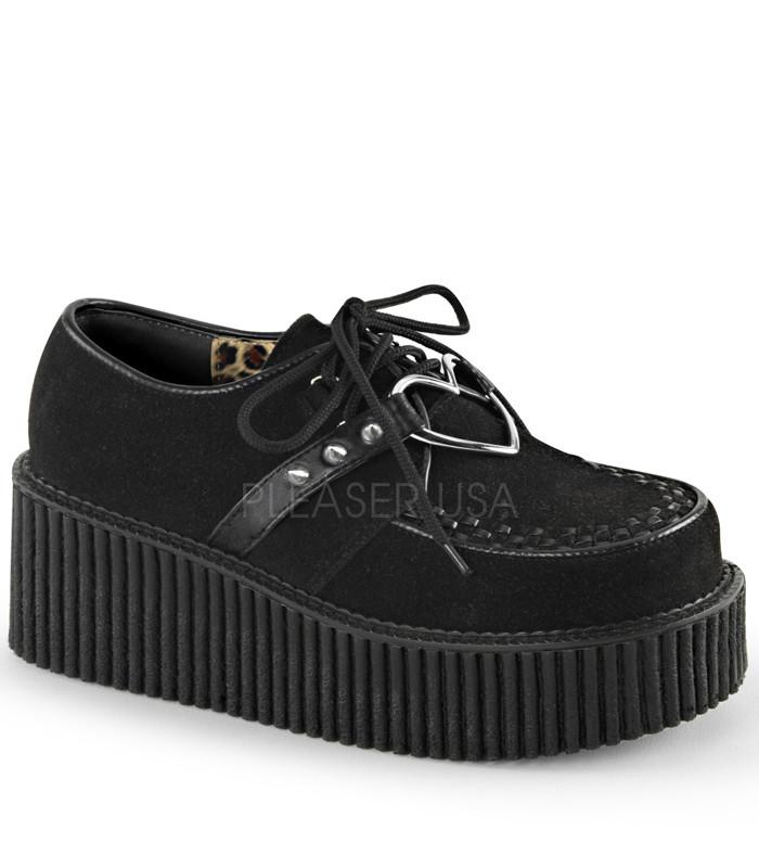 Demonia Heart Black Platform Creepers - The Atomic Boutique