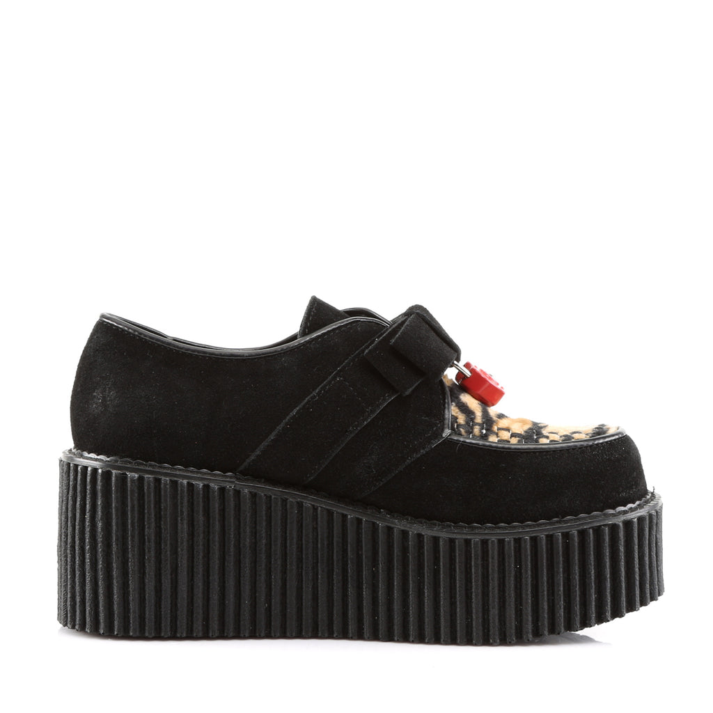 Heart Padlock Creepers Three Inch Platform CREEPER-213 - The Atomic Boutique