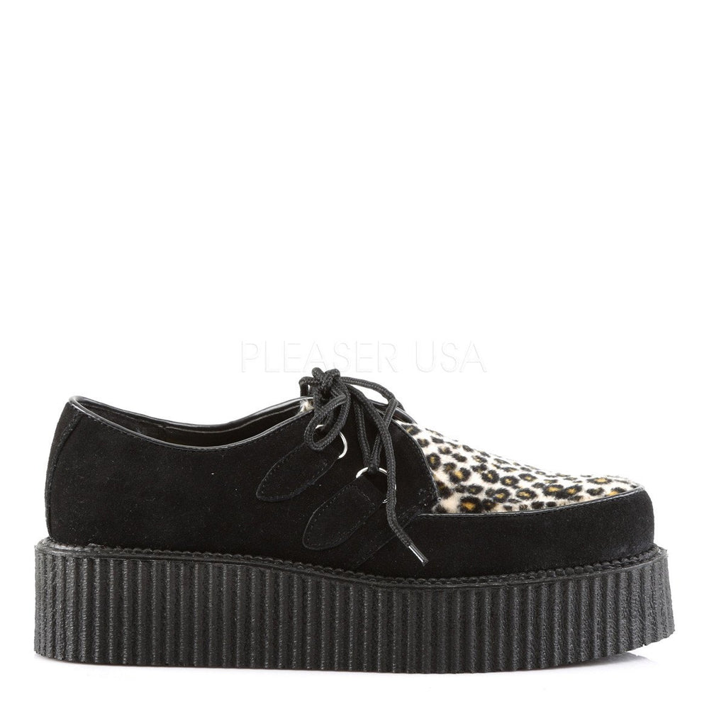 Demonia Leopard and Black Creepers - The Atomic Boutique  - 5