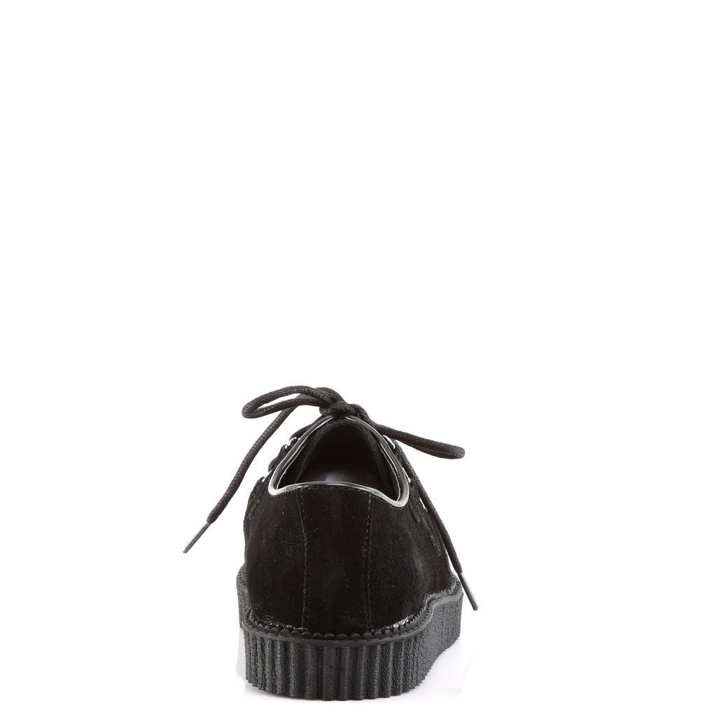 Black Suede One Inch Creepers CREEPER-602S - The Atomic Boutique