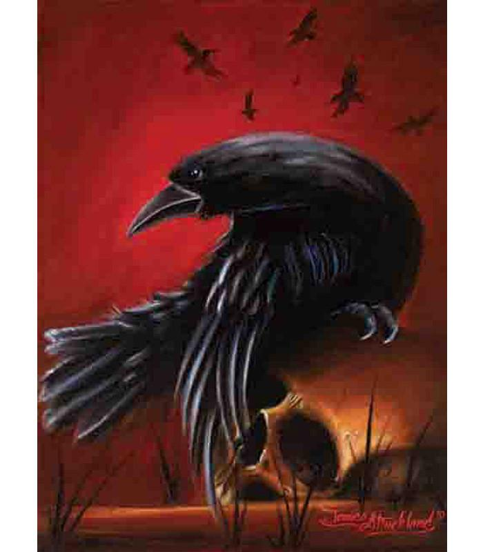 Crow Fine Art Print by Artist James Strickland - The Atomic Boutique