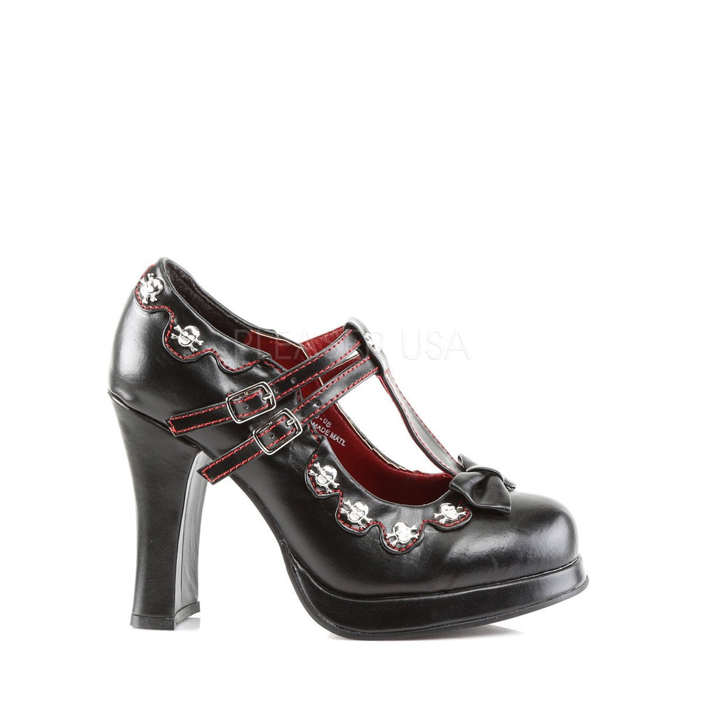 Demonia Crypto Skull Mary Jane Pumps - The Atomic Boutique  - 5