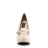 Beige Cutie Pie Mary Jane Pumps CUTIE-02 - The Atomic Boutique