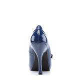 Navy Patent Blue Mary Jane Pumps CUTIEPIE-02 - The Atomic Boutique