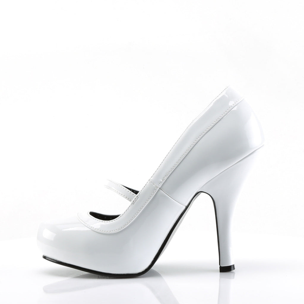 White Patent Mary Jane Bow Pumps CUTIEPIE-02 - The Atomic Boutique