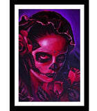 Day of the Dead Mary Art Print by Artist Manuel Valenzuela - The Atomic Boutique