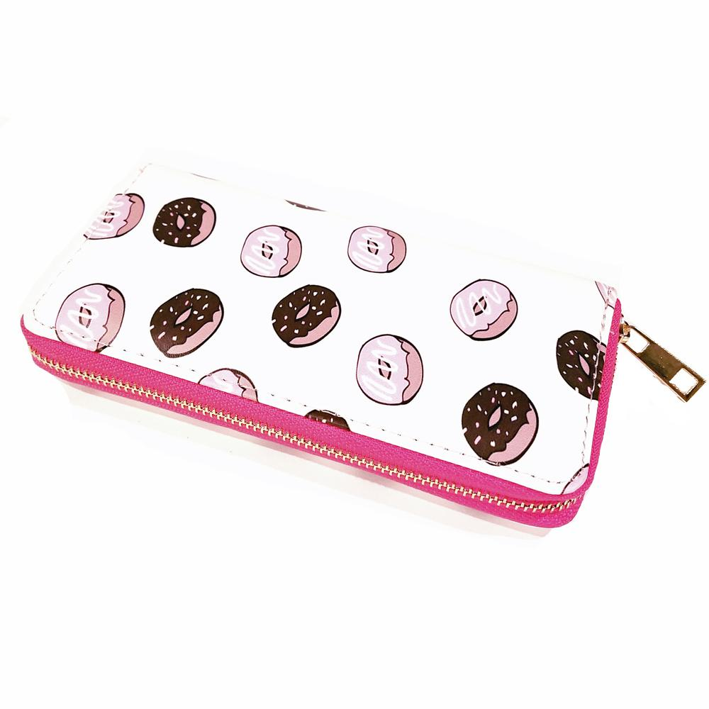 Atomic Apparel Donuts Print Wallet