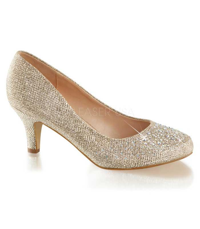 Fabulicious Gold Sparkle Doris Heels - The Atomic Boutique