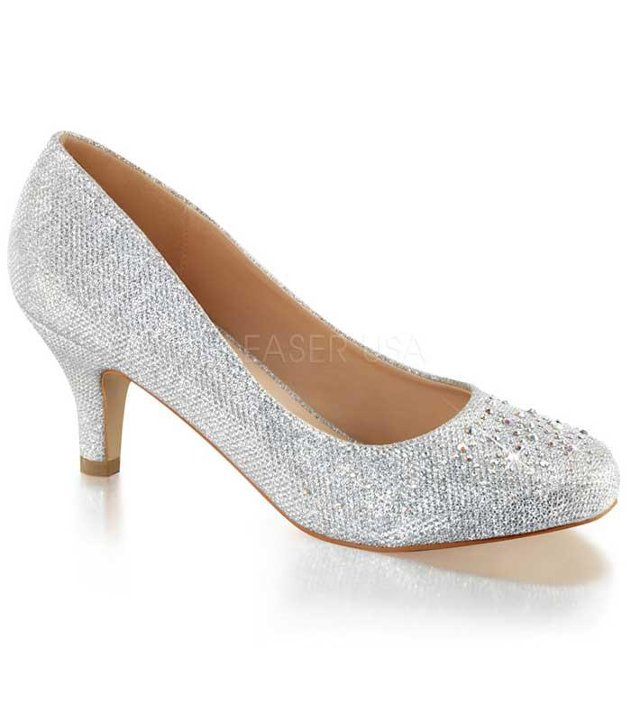 Silver Sparkle Doris Heels - The Atomic Boutique