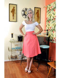 Heart of Haute A-line Skirt Coral Honeycomb Skirt - The Atomic Boutique  - 1