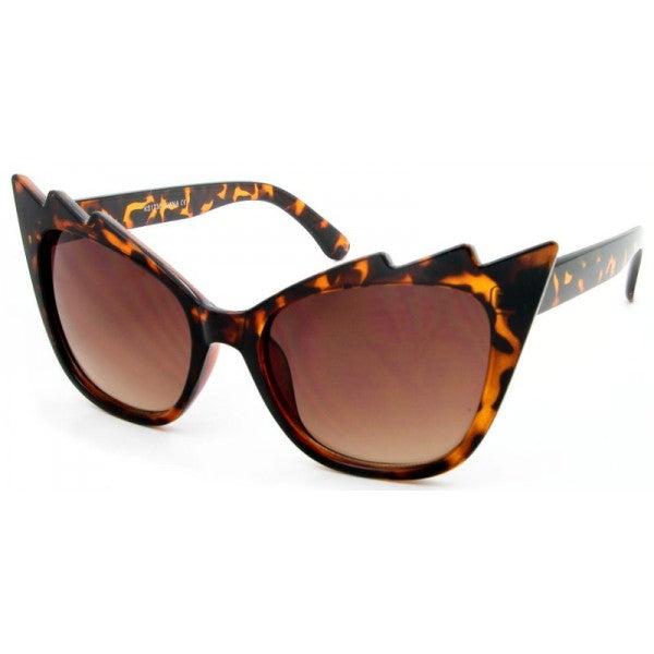 Scarlet Cat Eye Sunglasses Tortoise - The Atomic Boutique